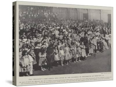 The Children's Fancy-Dress Ball Given by the Mayoress of Portsmouth on 10 February--Stretched Canvas Print