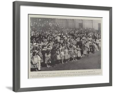 The Children's Fancy-Dress Ball Given by the Mayoress of Portsmouth on 10 February--Framed Giclee Print
