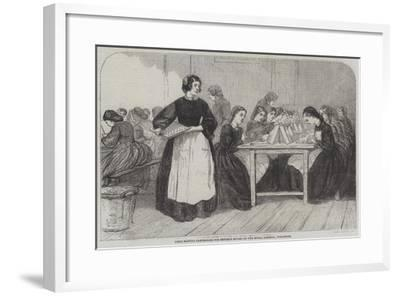 Girls Making Cartridges for Enfield Rifles at the Royal Arsenal, Woolwich--Framed Giclee Print