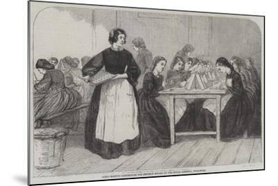 Girls Making Cartridges for Enfield Rifles at the Royal Arsenal, Woolwich--Mounted Giclee Print