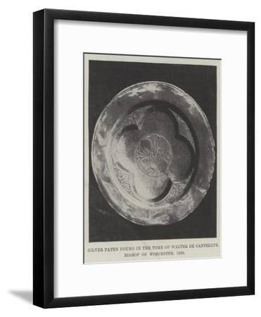 Silver Paten Found in the Tomb of Walter De Cantelupe, Bishop of Worcester, 1236--Framed Giclee Print