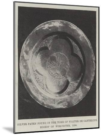 Silver Paten Found in the Tomb of Walter De Cantelupe, Bishop of Worcester, 1236--Mounted Giclee Print