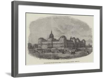 Sixth Prize Design for the War-Office, Messers W G and E Habershon, Architects--Framed Giclee Print