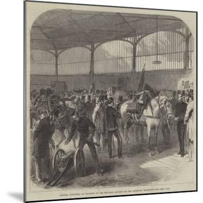 Official Inspection at Woolwich of the Mountain Battery for the Abyssinian Expedition--Mounted Giclee Print
