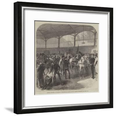 Official Inspection at Woolwich of the Mountain Battery for the Abyssinian Expedition--Framed Giclee Print