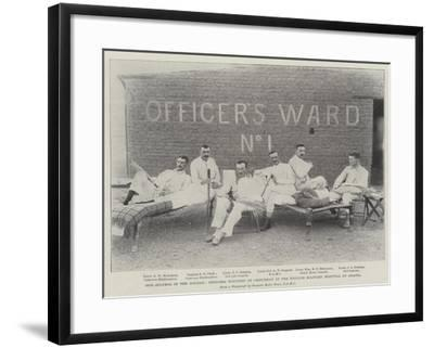 Our Success in the Soudan, Officers Wounded at Omdurman in the English Military Hospital at Abadia--Framed Giclee Print