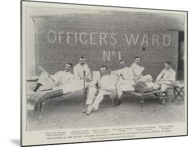 Our Success in the Soudan, Officers Wounded at Omdurman in the English Military Hospital at Abadia--Mounted Giclee Print