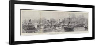 The Naval Demonstration at the Opening of the North Sea and Baltic Canal--Framed Giclee Print