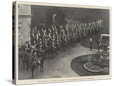 The Funeral of the Empress Frederick, Her Late Majesty's Hussars in the Procession--Stretched Canvas Print