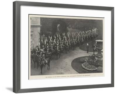 The Funeral of the Empress Frederick, Her Late Majesty's Hussars in the Procession--Framed Giclee Print