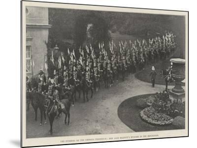 The Funeral of the Empress Frederick, Her Late Majesty's Hussars in the Procession--Mounted Giclee Print