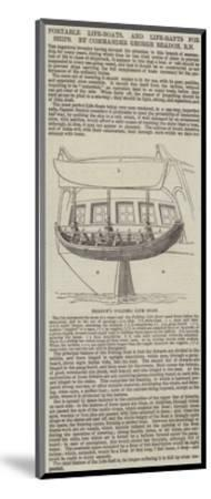 Portable Life-Boats, and Life-Rafts for Ships, by Commander George Beadon, Rn--Mounted Giclee Print