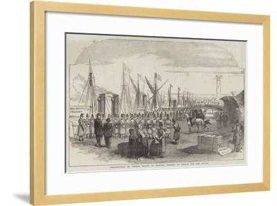 Embarkation of French Troops in English Vessels, at Calais, for the Baltic--Framed Giclee Print