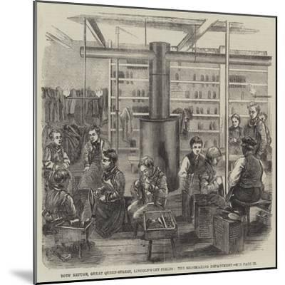 Boys' Refuge, Great Queen-Street, Lincoln'S-Inn Fields, the Shoemaking Department--Mounted Giclee Print