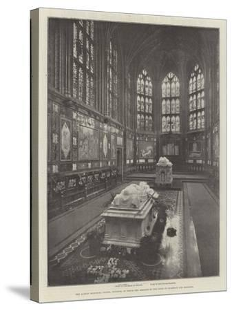 The Albert Memorial Chapel, Windsor, in Which the Remains of the Duke of Clarence are Reposing--Stretched Canvas Print