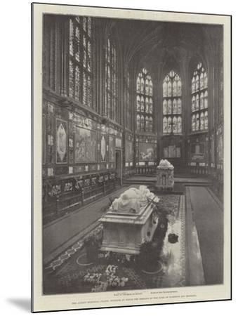The Albert Memorial Chapel, Windsor, in Which the Remains of the Duke of Clarence are Reposing--Mounted Giclee Print