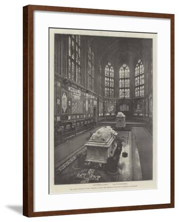 The Albert Memorial Chapel, Windsor, in Which the Remains of the Duke of Clarence are Reposing--Framed Giclee Print