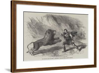 Mr Crockett, the Lion-Tamer, Performing with His Lions at Astley's Theatre--Framed Giclee Print
