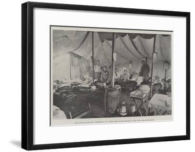 The Portland Hospital, Rondebosch, No 9 Ward, Two of the Wounded in This Ward are Australians--Framed Giclee Print