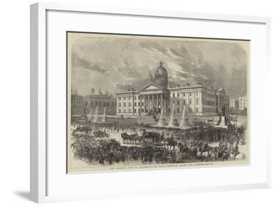 Her Majesty's Visit to Manchester, the Royal Procession Passing the Infirmary--Framed Giclee Print