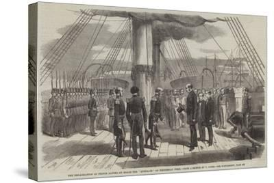 The Embarkation of Prince Alfred on Board the Euryalus on Wednesday Week--Stretched Canvas Print