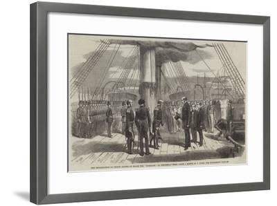 The Embarkation of Prince Alfred on Board the Euryalus on Wednesday Week--Framed Giclee Print