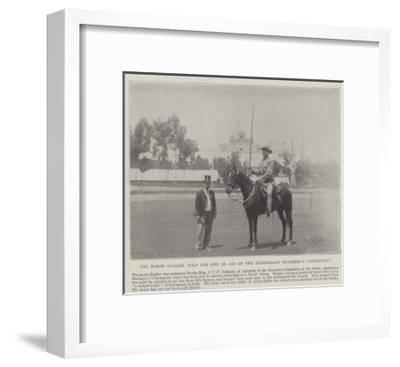 The Horse Bugler, Sold for £2627 in Aid of the Australian Bushmen's Contingent--Framed Giclee Print