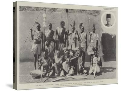 The Recent Looting of a Camel Convoy by Dinkas in the Soudan, the Heads of the Dinka Tribe--Stretched Canvas Print