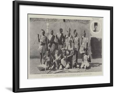 The Recent Looting of a Camel Convoy by Dinkas in the Soudan, the Heads of the Dinka Tribe--Framed Giclee Print