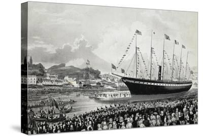 Launching of Ss Great Britain in Bristol, July 19, 1843, United Kingdom, 19th Century--Stretched Canvas Print