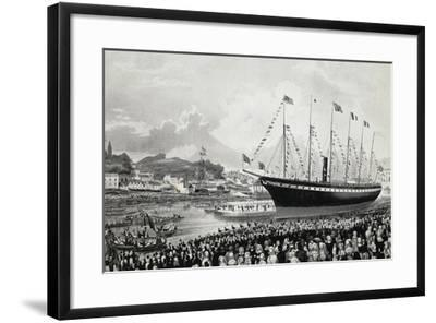 Launching of Ss Great Britain in Bristol, July 19, 1843, United Kingdom, 19th Century--Framed Giclee Print