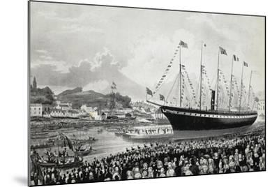 Launching of Ss Great Britain in Bristol, July 19, 1843, United Kingdom, 19th Century--Mounted Giclee Print