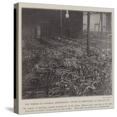 The Wheels of Football Enthusiasts, Cycles of Spectators at the Cup Tie--Stretched Canvas Print