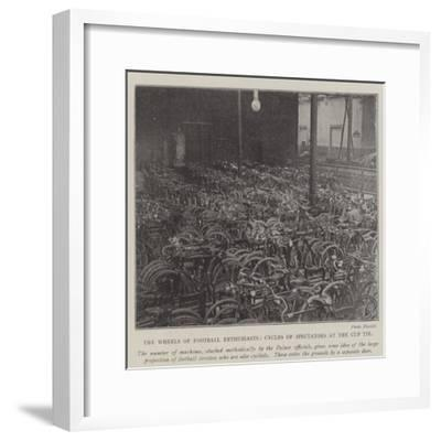 The Wheels of Football Enthusiasts, Cycles of Spectators at the Cup Tie--Framed Giclee Print