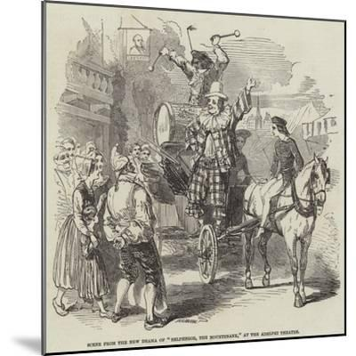 Scene from the New Drama of Belphegor, the Mountebank, at the Adelphi Theatre--Mounted Giclee Print