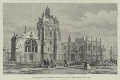 The University of Aberdeen, the Meeting-Place of the British Association--Framed Giclee Print