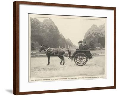 The Queen of Denmark with Her Daughters, the Princess of Wales and the Empress of Russia--Framed Giclee Print