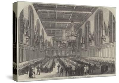 Festival of the Corporation of Sons of the Clergy, the Banquet in Merchant Taylors' Hall--Stretched Canvas Print