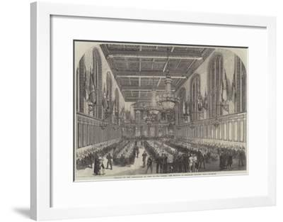 Festival of the Corporation of Sons of the Clergy, the Banquet in Merchant Taylors' Hall--Framed Giclee Print