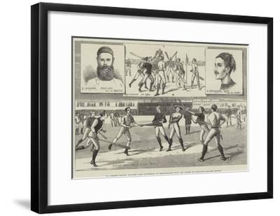 La Crosse Match, Played Last Saturday at Kennington Oval, by North of England Against South--Framed Giclee Print