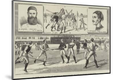 La Crosse Match, Played Last Saturday at Kennington Oval, by North of England Against South--Mounted Giclee Print