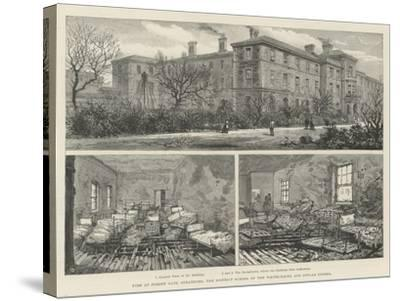 Fire at Forest Gate, Stratford, the District School of the Whitechapel and Poplar Unions--Stretched Canvas Print