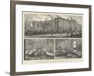 Fire at Forest Gate, Stratford, the District School of the Whitechapel and Poplar Unions--Framed Giclee Print