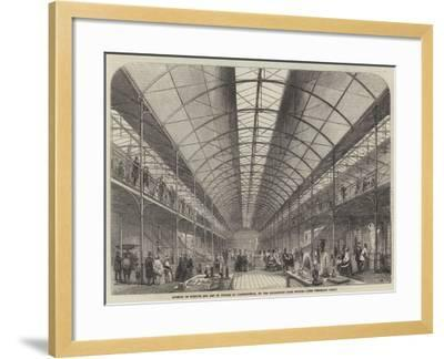 Museum of Science and Art in Course of Construction, on the Kensington Gore Estate--Framed Giclee Print