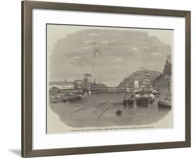 Regatta on the Danube at Buda-Pesth, During the Visit of the Emperor of Austria--Framed Giclee Print