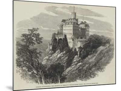 Schloss Furstenstein, the Emperor of Germany's Head-Quarters During the Silesian Manoeuvres--Mounted Giclee Print