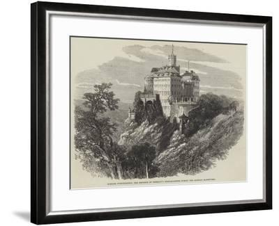 Schloss Furstenstein, the Emperor of Germany's Head-Quarters During the Silesian Manoeuvres--Framed Giclee Print