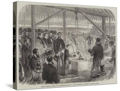 Prince Leopold Laying the Foundation-Stone of a New Infirmary at Bishop's Waltham, Hants--Stretched Canvas Print
