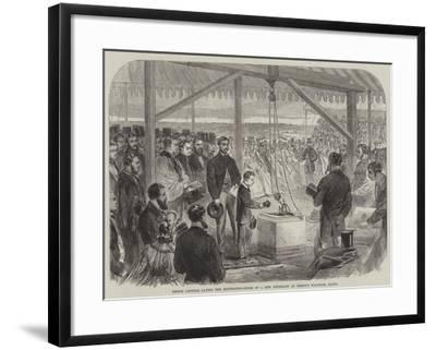 Prince Leopold Laying the Foundation-Stone of a New Infirmary at Bishop's Waltham, Hants--Framed Giclee Print