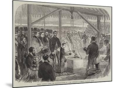 Prince Leopold Laying the Foundation-Stone of a New Infirmary at Bishop's Waltham, Hants--Mounted Giclee Print